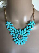 Aqua Green Flower Necklace EID INDIAN ASAIN ABAYA Jewellery Accessories