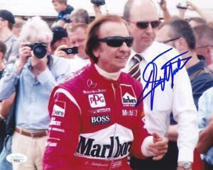 EMERSON FITTIPALDI Signed 8X10 Color Photo Racing Formula 1 JSA PP40521