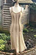 Temperley London Strappy Silk/Rayon Gold Rope Dress Evenings Or  Summer