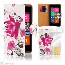 Poliuretano Funda Billetera Cuero Para Nokia Lumia 625+Protector De Pantalla