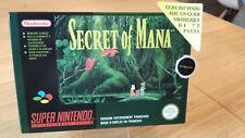 Boîtes SNES - Secret of Mana [FRA/SFRA] + Pastille + Etiquette fluo