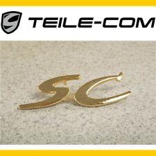 """NEU+ORIG. Porsche 356 """"SC"""" Schriftzug, Vergolded / logo, Gold plated"""
