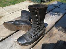 Antique Button Shoes Boy Girl 7 Civil War-Victorian Vintage Black Leather Boots