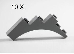 LEGO® Dark Gray Arch 1 x 5 x 4 - Continuous Bow [ 10 Pieces] [ ID 2339 ]