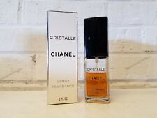 Cristalle Chanel 2 fl oz / 60 ml Spray Fragrence Perfume Opened 50% Used