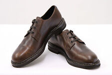 .NWOB $1360 Brunello Cucinelli 100% Goodyear Leather Brown Derby Shoes 44/10 US