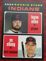 2020 Topps Heritage Indians Rookie Stars LOGAN ALLEN / YU CHANG #231 RC