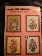 Flower Basket Wonder Art Stitchery Rhapsody Needlepoint Kit 11 x 14