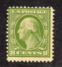 U.S. STAMPS #337 8c WASHINGTON-FRANKLIN DEFINITIVE 1908 MINT
