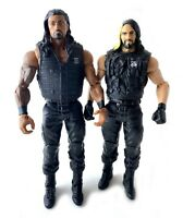 Roman Reigns & Seth Rollins WWE Mattel Basic Action Figures Lot The Shield NXT