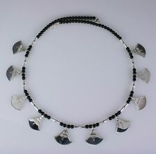 Handmade African Tribal Ethnic Sterling silver Tuareg necklace.