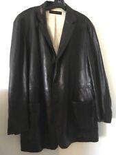 Donna Karan Top Quality Leather Blazer L