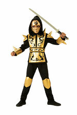 Gold Black Ninja CHILD Boys Costume NEW