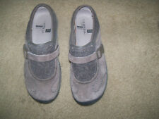 Merrell  Buckle Brown Clogs Mules Suede Women Size 8.5