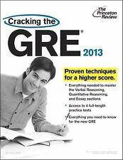 Graduate School Test Preparation Ser.: Cracking the GRE, 2013 Edition