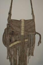 STUNNING TAUPE SAND ALL SAINTS SUEDE CHEPI TASSEL BOHO SHOULDER CROSS BODY BAG