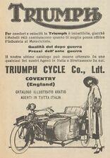 Y7879 Moto con Sidecar TRIUMPH - Pubblicità d'epoca - 1923 Old advertising