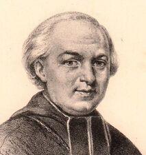 Portrait XIXe Jean-Jacques Fayet  Evêque d'Orléans Mende Lozère Lithographie