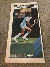 1978 ADIDAS Tennis Shoe Racket Poster Print Ad US OPEN ILIE NASTASIE BETTY STOVE