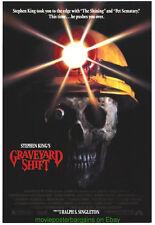 GRAVEYARD SHIFT MOVIE POSTER Original 27x40 STEPHEN KING 1990 + HORROR Bonus!!!