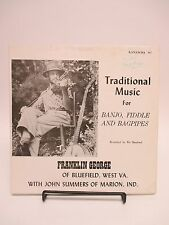 """SIGNED by Franklin George """"Traditional Music for Banjo, Fiddle, and Bagpipes"""" LP"""