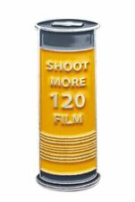 original Official Exclusive Shoot More 120mm Film Canister Lapel Pin Badge (UK)