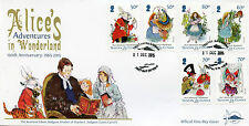 Tristan da Cunha 2015 FDC Alice Adventures in Wonderland 6v Set Cover Stamps