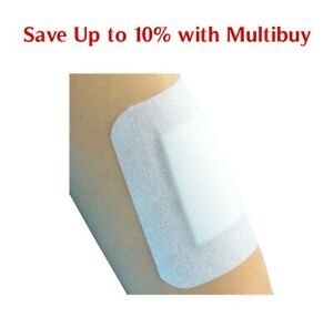 Self-Adhesive First Aid Dressing Cuts Burns Wounds Non-Woven Sterile 13 Sizes