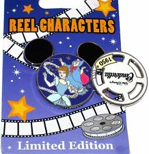 Le Disney Pin✿Cinderella Reel Characters Movie Film Mickey Ears Fairy Godmother