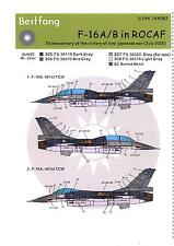 Bestfong Decals 1/144 GENERAL DYNAMICS F-16A/B ROCAF ANNIVERSARY SCHEME