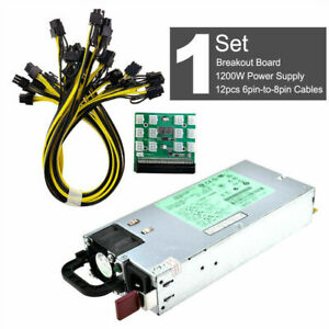For HP DPS-1200FB A 1200W PSU Power Supply or Breakout Board +12 pcs pin CablesF