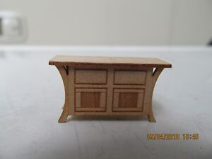 DOLLHOUSE MINIATURE QUARTER SCALE BEDROOM BUREAU
