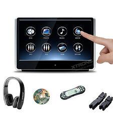 """11.6"""" Headrest Car DVD Player IPS Touch Screen Monitor Pillow SD Game IR Headset"""