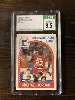 GEM MINT CSG 9.5 Michael Jordan 1989 - 1990 NBA Hoops 21 All-Star Card. Not PSA
