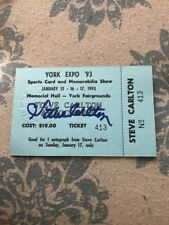 Steve Carlton Signed Show Ticket Autograph Certified Phillies