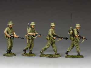 King and Country VN030 Australian Patrol Section 1:30 Scale Metal Toy Soldiers