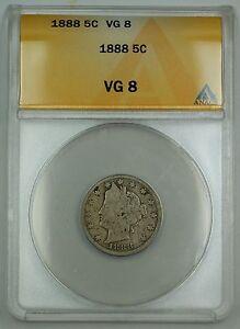 1888 Liberty V Nickel Coin 5c ANACS VG-8
