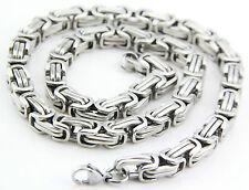 hot 316L Men's Stainless Steel Titanium Necklace Chain 7.5mmx8mm 55cm