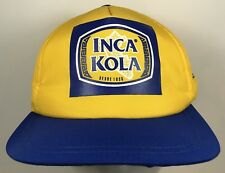 INCA KOLA Hat Blue Yellow Made In Peru Drink Cap SnapBack Rare