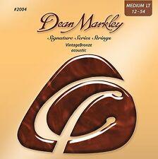 Dean Markley 2004 Medium Light Vintage Bronze Acoustic Guitar Strings (12-54)