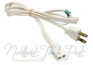 Sunbeam Replacement White 2-Hole Power Cord for Model HMD-1 Mixmaster Hand Mixer
