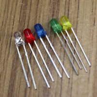 100x LED Red Green Blue Yellow White Assorted Kit Light Emitting Diode La MKL