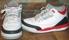 Nike Air Jordan Retro III Fire Red Size 4.5Y White Black Cement