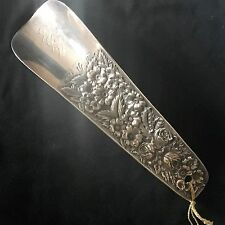 Lovely Stieff Sterling Silver Shoe Horn Ornate Rose Pattern