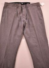 men's Old Navy pants size 36x30 gray slim 100% cotton five pockets belt loops