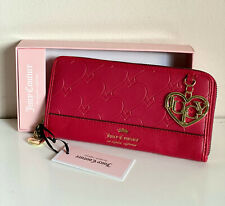 NEW W/ BOX! JUICY COUTURE HEART and SOUL LARGE ZIP AROUND CLUTCH WALLET $45 SALE