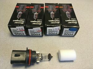 4 PACK: Certified 9004 Automobile Car Truck Headlight Bulbs Halogen 12V 45W 65W