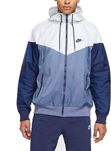 Nike Sportswear Windrunner Hooded Jacket Diffused Blue Men's Sz 2XL AR2191-491