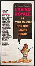 "CASINO ROYALE 1967 huge U.S 3 Sheet 41""x81"" poster James Bond 007 Filmartgallery"