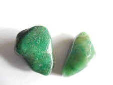 2pc RARE TUMBLED BUDDSTONE/SOUTH AFRICAN JADE 40 and 35mm;  34g orgone;  #1